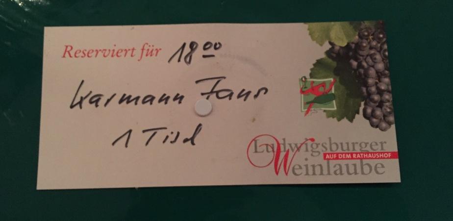 Sommer Stammtisch auf der Weinlaube Ludwigsburg