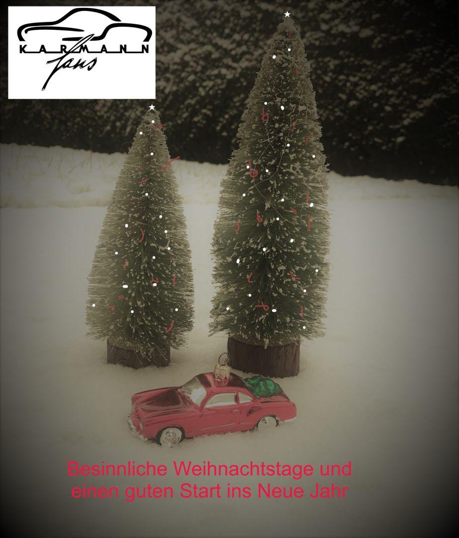 Frohe und besinnliche Weihnachtsfeiertage für alleKarmannfans