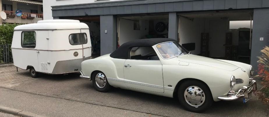 Ein Karmann Ghia mit einem Eriba Puck – das ist doch die perfekteVerbindung